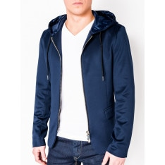 Ombre Clothing Men's casual hooded blazer jacket M98