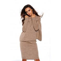Lemoniade Woman's Set (Sweater + Skirt) LS260 Cappuccino