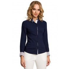 Made Of Emotion Woman's Shirt M067 Navy Blue