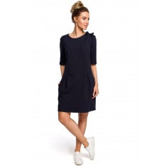 Made Of Emotion Woman's Dress M422 Navy Blue