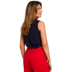 Stylove Woman's Blouse S172 Navy Blue