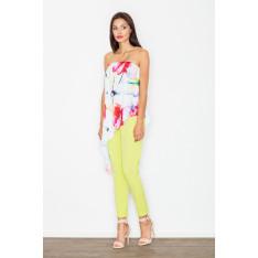 Figl Woman's Jumpsuit M500 Lime-Pattern 7