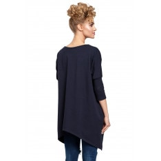 Made Of Emotion Woman's Poncho M289 Navy Blue