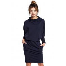 BeWear Woman's Dress B032 Navy Blue