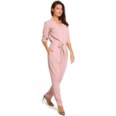 Stylove Woman's Jumpsuit S146 Powder