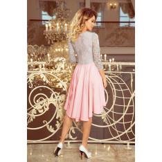 NUMOCO Woman's Dress 210-5 Pink/Grey