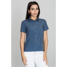 Figl Woman's Blouse M548 Navy Blue