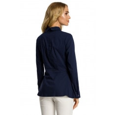 Made Of Emotion Woman's Blouse M339 Navy Blue
