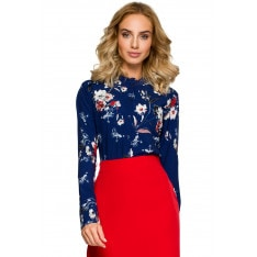 Made Of Emotion Woman's Blouse M408 Navy Blue