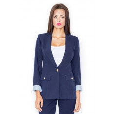 Figl Woman's Jacket M489 Navy Blue