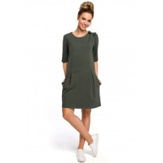 Made Of Emotion Woman's Dress M422 Military
