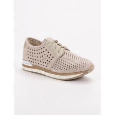 ACLYS KNITTED BEIGE SHOES