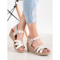 SEA ELVES LIGHT SANDALS WITH ECO LEATHER
