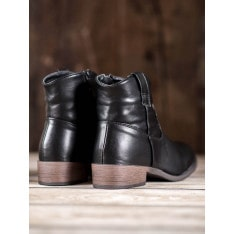 NIO NIO BLACK COWBOYS BOOTIES