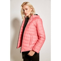 Trendyol Pink Hooded Inflatable Jacket