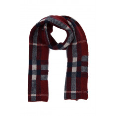 Trendyol Navy Blue Grid-Patterned Scarf