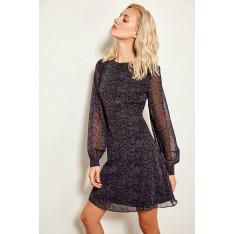 Trendyol Purple Leopard Print Dress