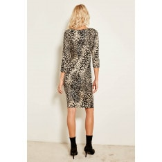 Trendyol Black Leopard Print Dress