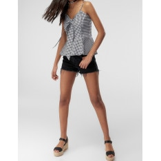 Women's Top Trendyol Bow Checkered