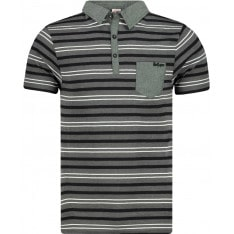 Lee Cooper Stripe Polo Mens