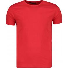 Trendyol Red Men's Basic T-shirt-Cotton Short Sleeve Cycling Collar