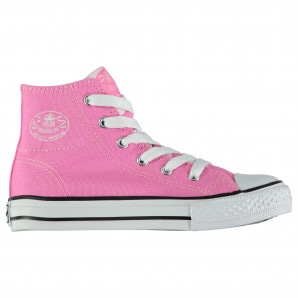 Dunlop Kids Canvas High Top Trainers