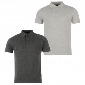Donnay Two Pack Polo Shirts Mens