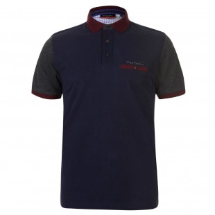 Pierre Cardin Contrast Polo Shirt Mens