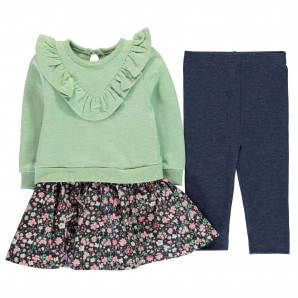 Crafted Mini 2 Piece Dress and Leggings Girls Infant