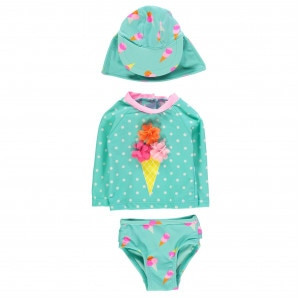 Crafted Mini 3 Piece Swimsuit Baby Girls