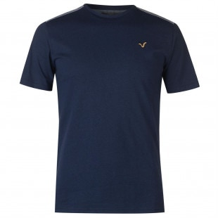 VOI Chambray Shoulder T Shirt Mens