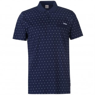 Lee Cooper AOP Polo Shirt Mens