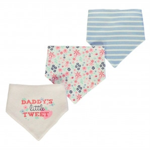 Crafted Mini 3 Pack Dribble Bibs Baby