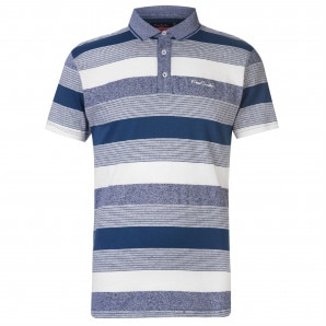 Pierre Cardin Yarn Dye Jersey Polo Shirt Mens