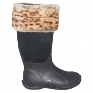 Requisite Desert Leopard Faux Fur Boot Toppers One Size