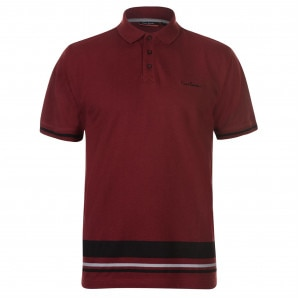 Pierre Cardin Button Stripe Polo Shirt Mens