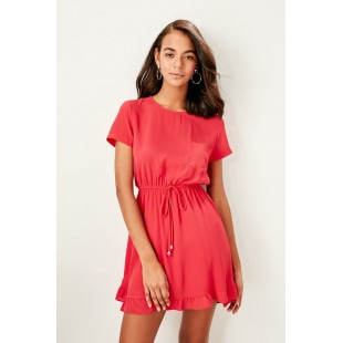 Trendyol Coral Waist Dress