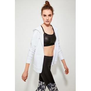 Trendyol White Soft Textured Sports Sweatshirt