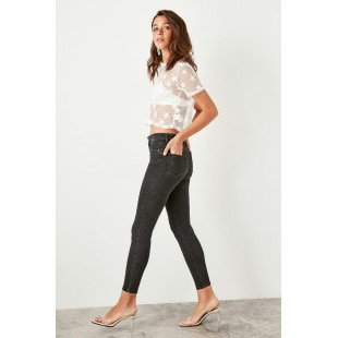Trendyol Anthracite High Waist Skinny Jeans