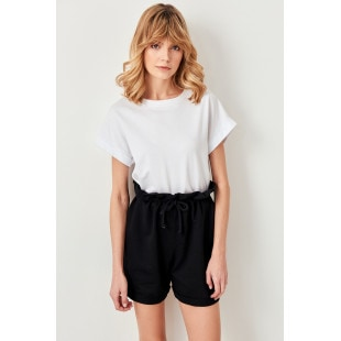 Trendyol Black Knit Shorts Paperbag