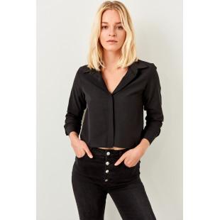 Trendyol Black Crop Shirt Shirt