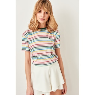 Trendyol Multicolor Striped Semi Fitted Knit t-shirt