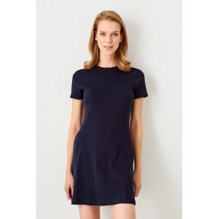 Trendyol La civert Flanged Knitted Dress