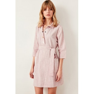 Trendyol Red Button Detailed Dress