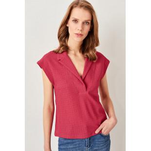 Trendyol Pink Textured Knit Shirt