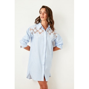 Trendyol Blue Embroidered Dress