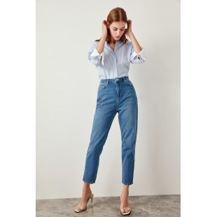 Trendyol Blue High Waist Mom Jeans