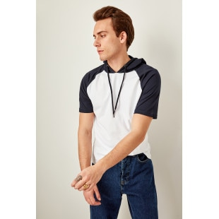 Trendyol Navy men's Hooded t-shirt