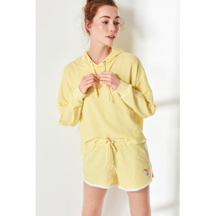 Trendyol Yellow Basic Knitted Shorts