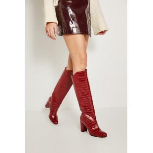 Trendyol Red Croco Handbag Women Boots